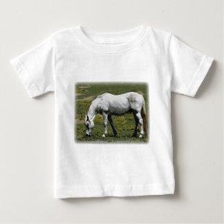 White / Grey Horse Shirt