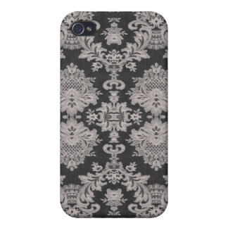 White Grey Lace ed  Covers For iPhone 4