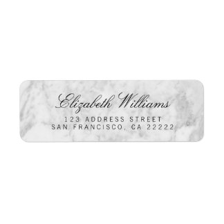 White Grey Marble Return Address Labels