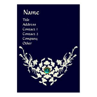 WHITE GRIFFINS AQUAMARINE MONOGRAM blue Business Card Templates