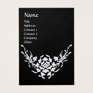 WHITE GRIFFINS MONOGRAM  black and gold metallic Business Card