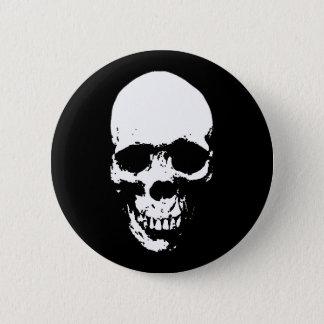 White Grim Reaper Skull Pinback Button