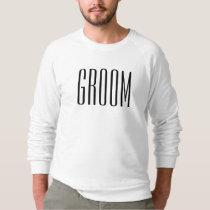 White Groom Wedding Engagement Classic Sweatshirt