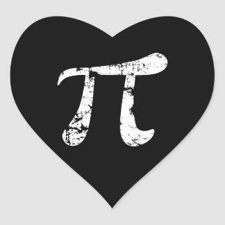 White Grunge Pi Symbol Sticker