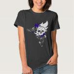 White Grunge Skull Tee (Purple)