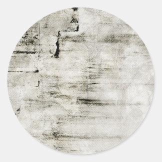 White Grungy Background Classic Round Sticker