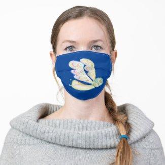 White Guardian Angel Art Custom Face Masks