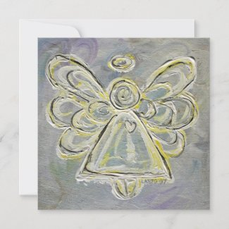 White Guardian Angel Custom Invites or Invitation