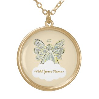 White Guardian Angel Series Cloud Custom Necklace