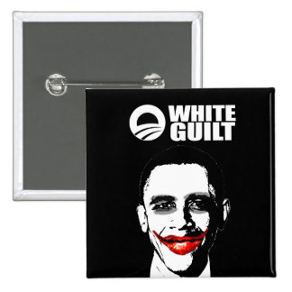 WHITE GUILT PINBACK BUTTONS