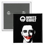 WHITE GUILT PINBACK BUTTON