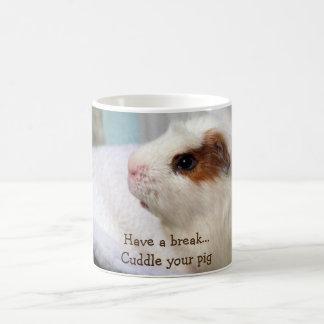 white guinea pig mug