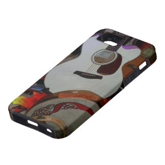 white guitar and persussion i-phone5 case iPhone 5 cases