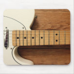 White Guitar Mouse Pad