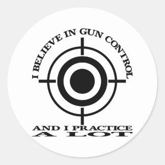 White Gun Control Practice Lot Sticker