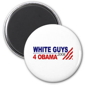 White Guys 4 Obama Magnet
