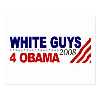 White Guys 4 Obama Postcard