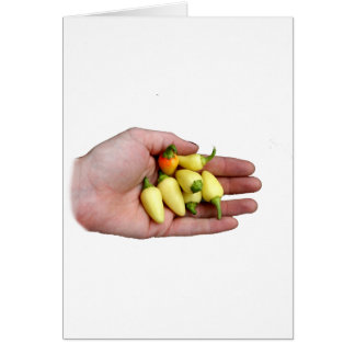 White Habanero Hot Peppers and Hand Photograp Card