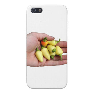 White Habanero Hot Peppers and Hand Photograp iPhone 5 Covers
