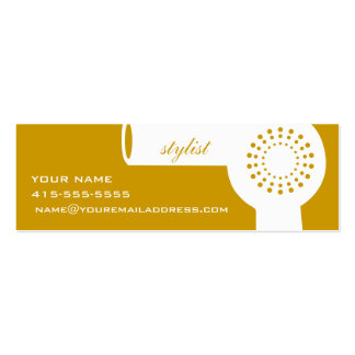 White Hairdryer & Harvest Gold Stylist Card Business Cards