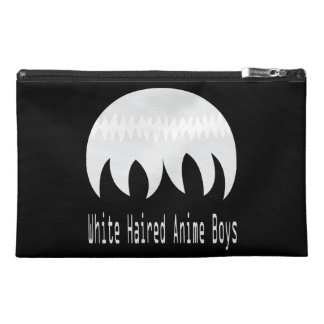 White haired anime boys accessory bag. travel accessory bags