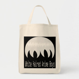 White haired anime boys tote