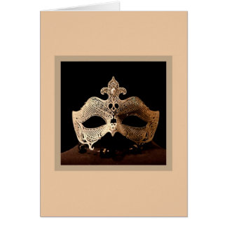 White Half-Mask Card