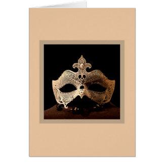 White Half-Mask Cards