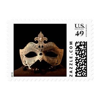 White Half Mask Stamps