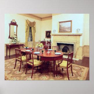 White Hall Dining-Room, near Charleston Poster