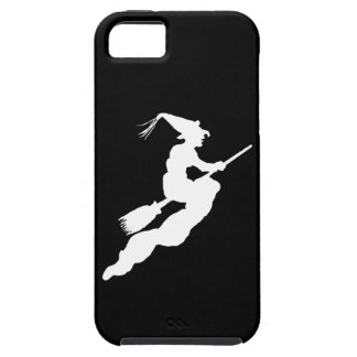 White Halloween Witch on Black iPhone SE/5/5s Case