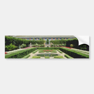 White Hampton Court Garden, England flowers Car Bumper Sticker