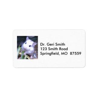 White Hamster Label