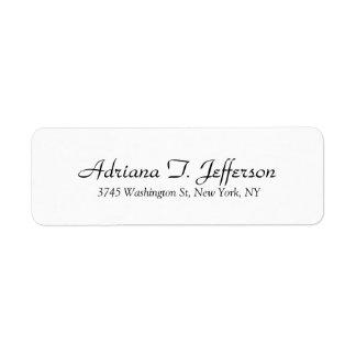 White Handwriting Professional Elegant Simple Mode Label