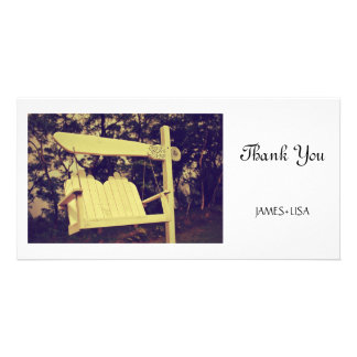 White Hanging Chair Card