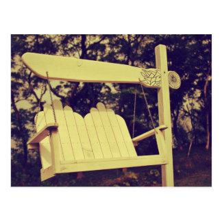 White Hanging Chair Postcard