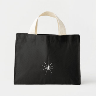 White Hanging Spider Mini Tote Bag