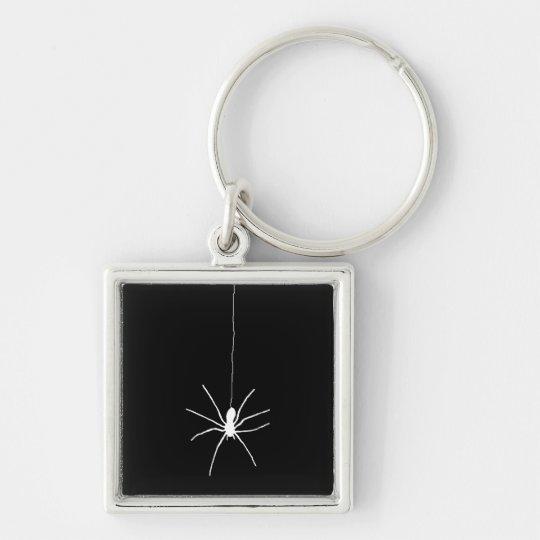 White Hanging Spider Keychain
