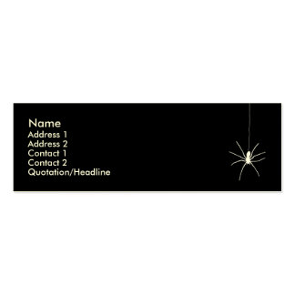 White Hanging Spider Mini Business Card