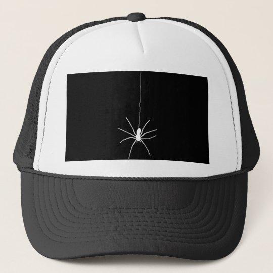 White Hanging Spider Trucker Hat