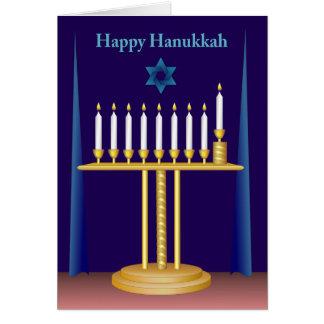 White Hanukkah Candles Greeting Card