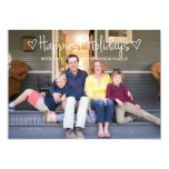 White Happiest Holidays Photo Flat Card