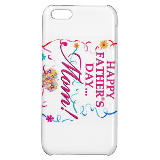 White Happy Fathers Day MOM IPOD or IPhone Case iPhone 5C Cover