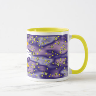 White Hare and Crescent Moon Mug