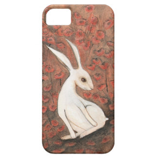 White Hare and Poppies Phone Case