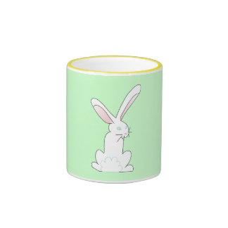 White Hare Ringer Mug