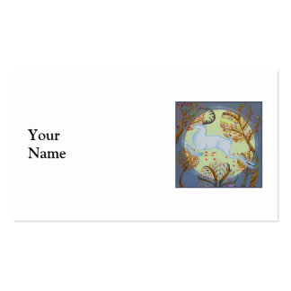 White Hart Leaping. Business Card