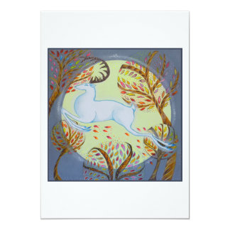 White Hart Leaping. Card
