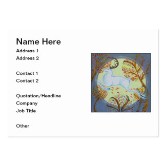 White Hart Leaping. Large Business Card
