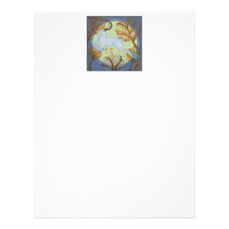 White Hart Leaping. Personalized Letterhead